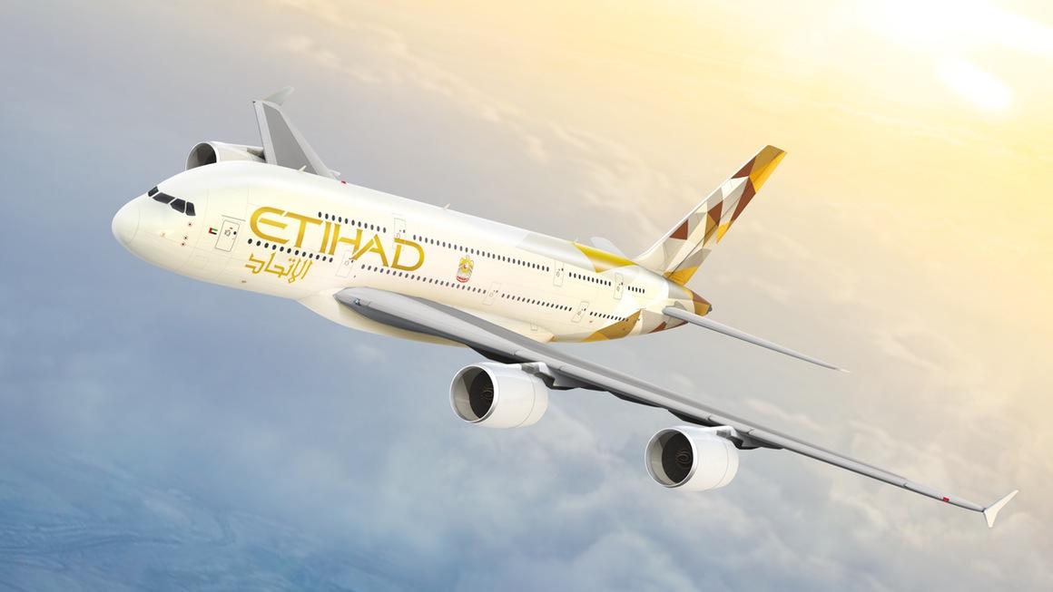Flugzeug Etihad