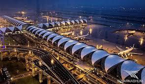 Bild Flughafen in der Nacht